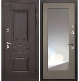 Дверь Интекрон Олимпия Венге ФЛЗ-М с зеркалом (Силк муссон)