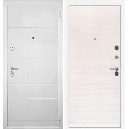 Дверь Интекрон Спарта Белая (Дуб сильвер поперечный)