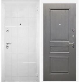 Дверь Интекрон Спарта Белая ФЛ-243 (Дуб вуд графит)