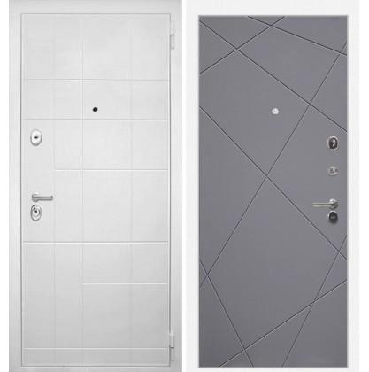 Дверь Интекрон Спарта Белая Лучи-М (Софт графит)