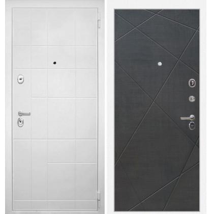 Дверь Интекрон Спарта Белая Лучи-М (Венге распил кофе)