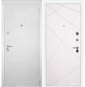 Дверь Интекрон Спарта Белая Лучи-М (Софт милк)