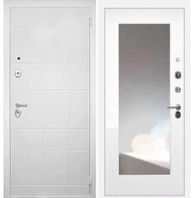 Дверь Интекрон Спарта Белая ФЛЗ-М с зеркалом (Белая матовая)