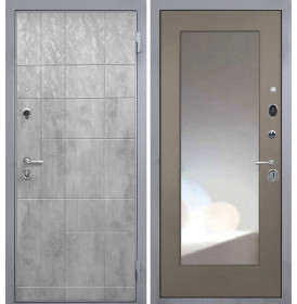 Дверь Интекрон Спарта Грей с зеркалом (Силк муссон)