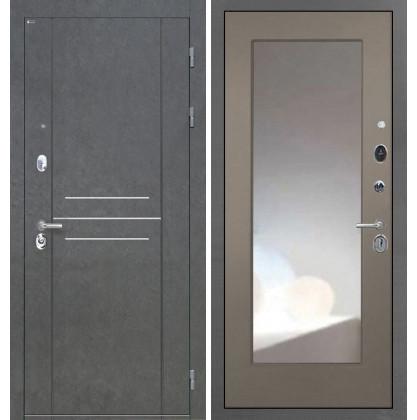 Дверь Интекрон Сенатор Лофт ФЛЗ-М с зеркалом (Силк муссон)