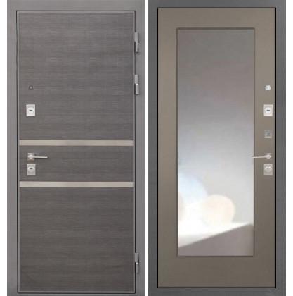 Дверь Интекрон Неаполь ФЛЗ-М с зеркалом (Силк муссон)