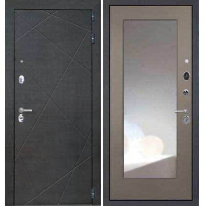 Дверь Интекрон Сенатор Лучи ФЛЗ-М с зеркалом (Силк муссон)